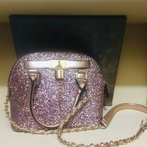 Aldo glitter shoulder bag purse